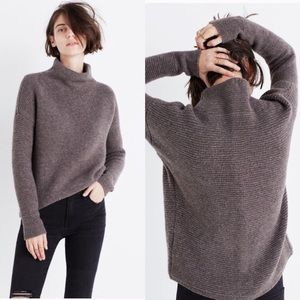 Madewell Southfield Mockneck chunky knit sweater